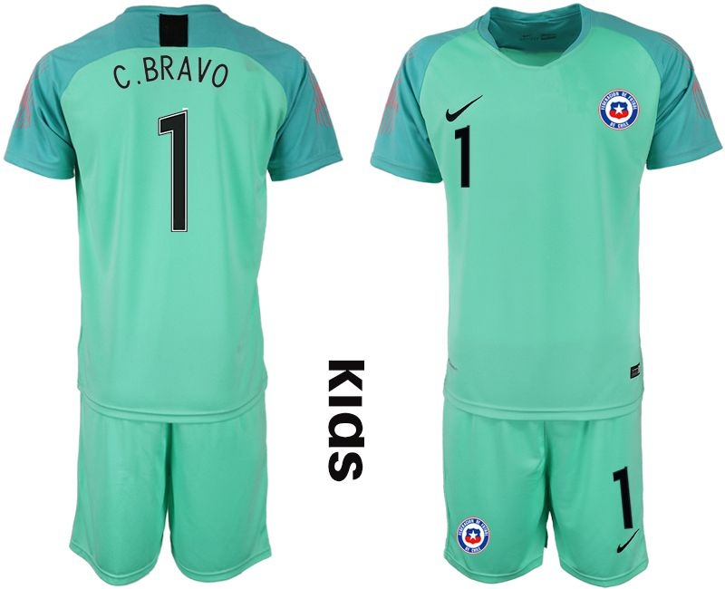 Youth 2018-2019 National Chile green goalkeeper 1 Soccer Jerseys