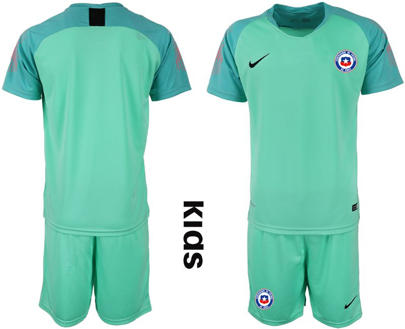 Youth 2018-2019 National Chile green goalkeeper Soccer Jerseys