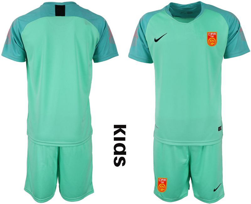 Youth 2018-2019 National China green goalkeeper Soccer Jerseys