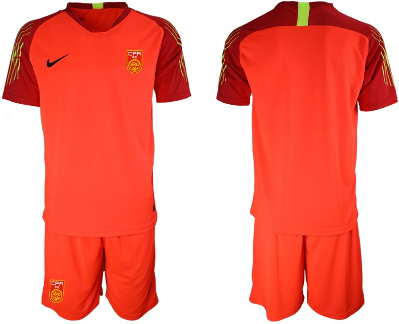 Youth 2018-2019 National Team China red goalkeeper Soccer Jerseys
