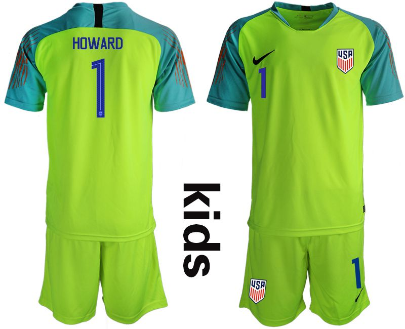 Youth 2018-2019 National USA fluorescent green goalkeeper Soccer Jerseys1