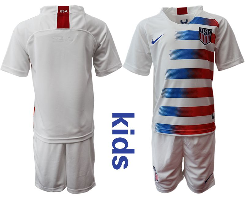 Youth 2018-2019 National United States home white Soccer Jerseys