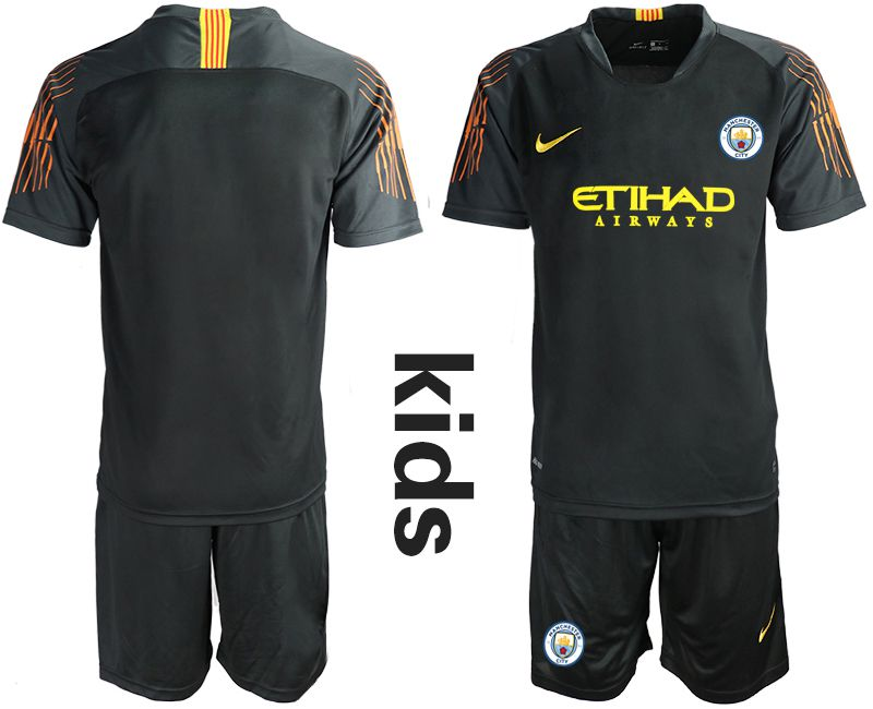 Youth 2018-2019 club Manchester City FC black goalkeeper Soccer Jerseys