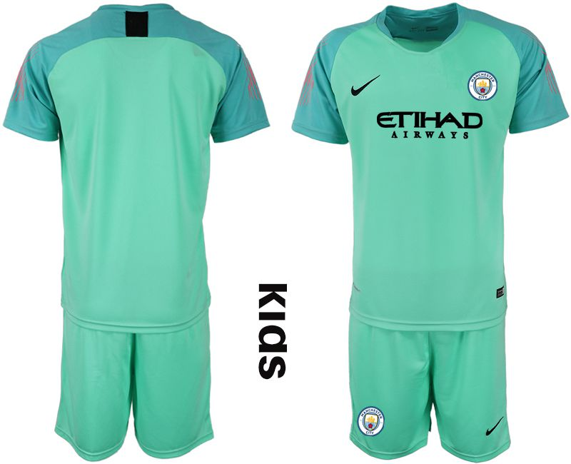 Youth 2018-2019 club Manchester City FC green goalkeeper Soccer Jerseys