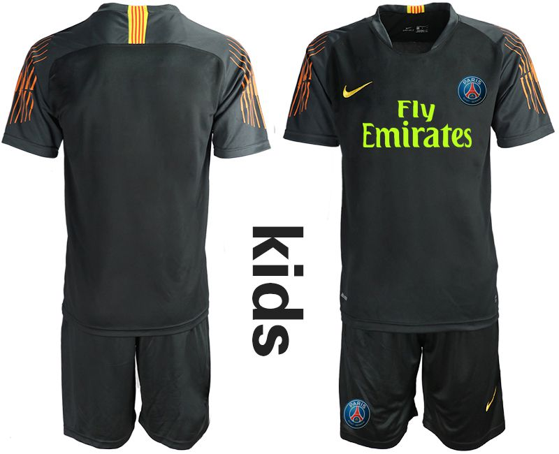 Youth 2018-2019 club Paris St German black goalkeeper Soccer Jerseys