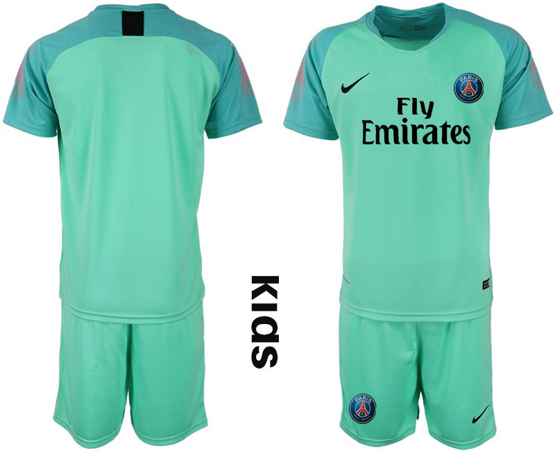 Youth 2018-2019 club Paris St German green goalkeeper Soccer Jerseys