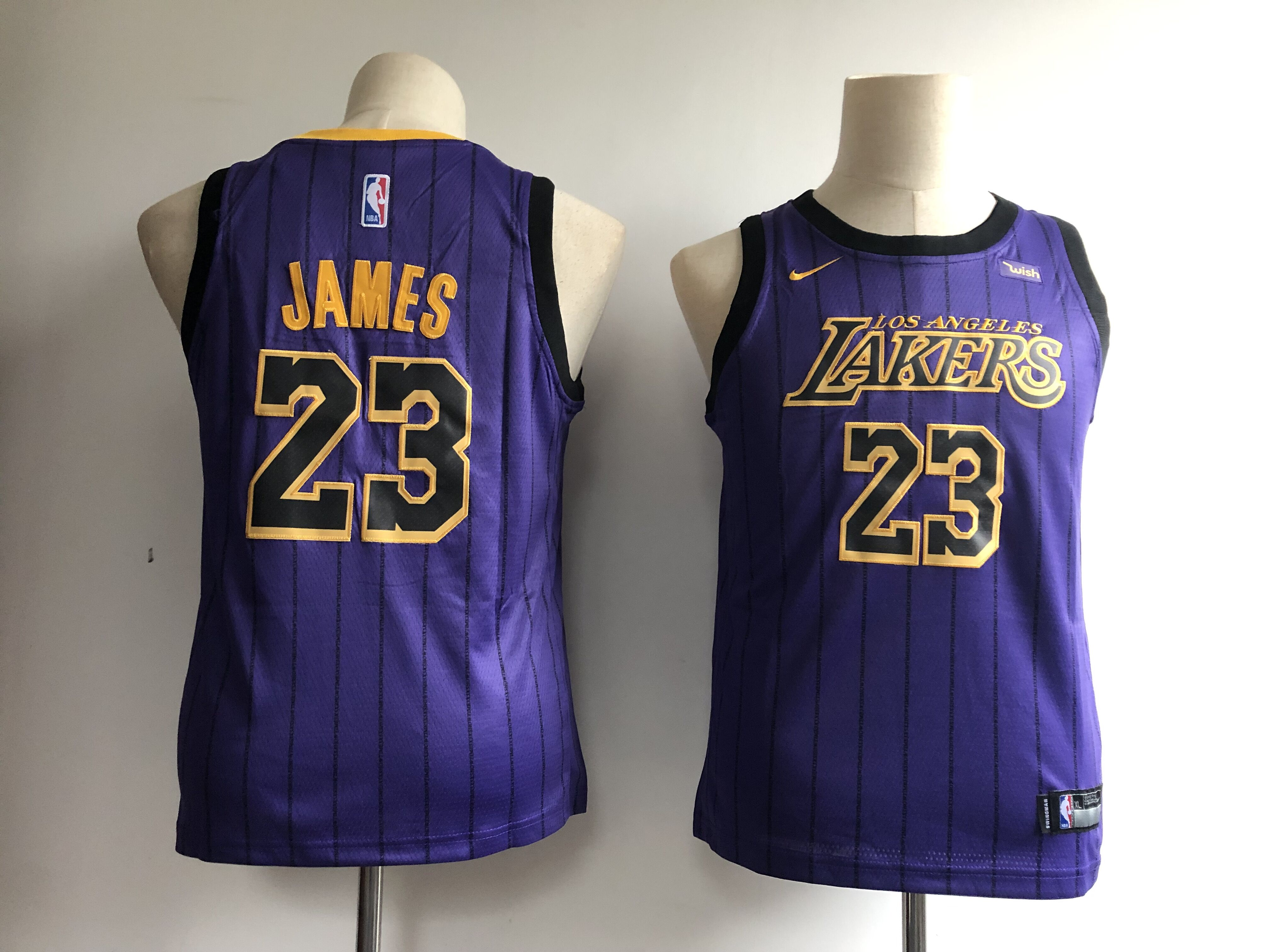 8d635945492 Youth Los Angeles Lakers 23 James purple Game City Edition Nike NBA Jerseys