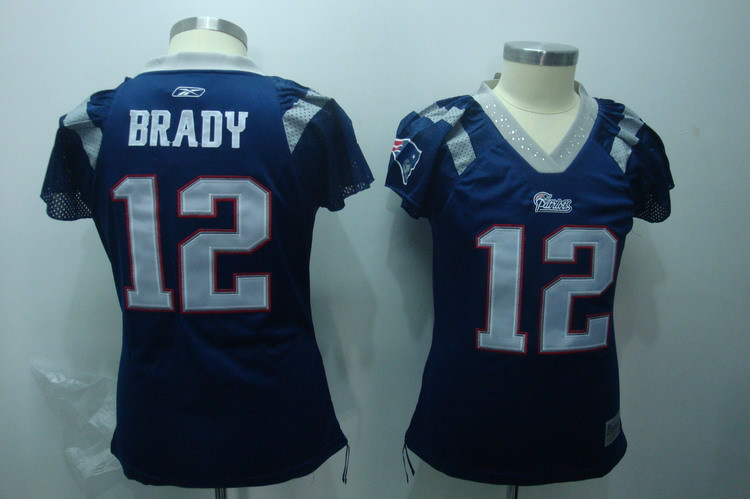 2019 Women New England Patriots 12 Brady blue Nike NFL Jerseys