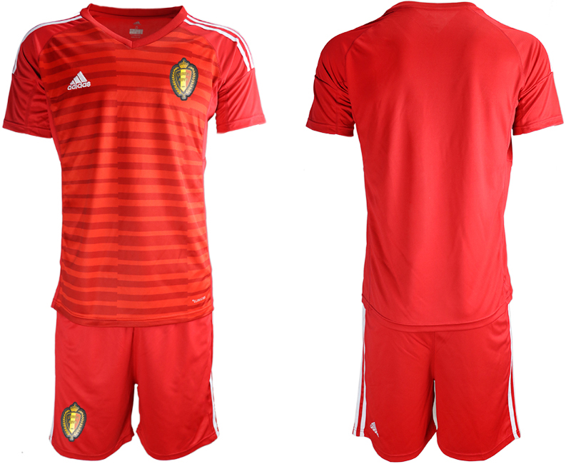 Men 2018 World Cup Belgium red goalkeeper soccer jersey