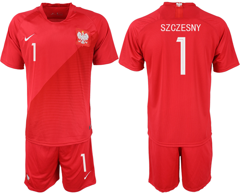 Men 2018 World Cup Poland away 1 red soccer jersey