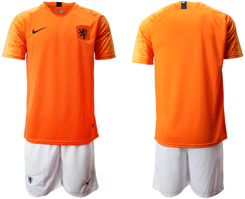 Men 2018-2019 National Team Netherlands home blank orange Soccer Jerseys