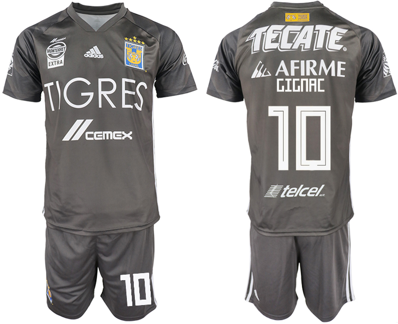Men 2018-2019 club Tigres UANL away 10 grey Soccer Jerseys