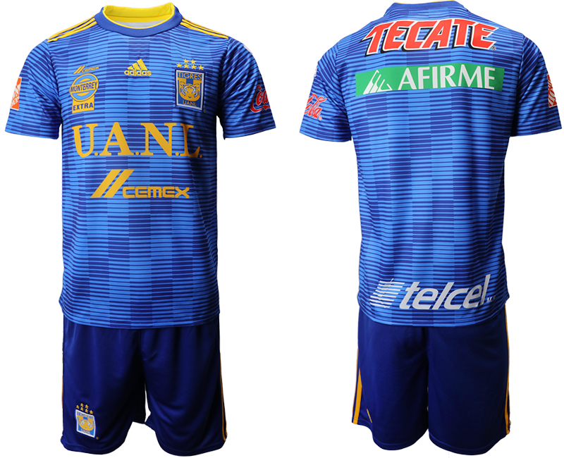 Men 2018-2019 club Tigres UANL away blue Soccer Jerseys