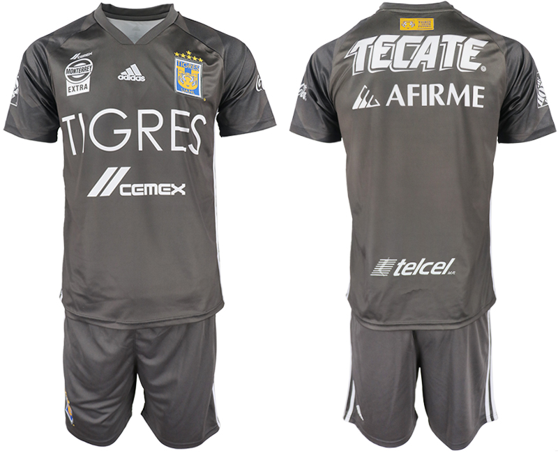 Men 2018-2019 club Tigres UANL away grey Soccer Jerseys