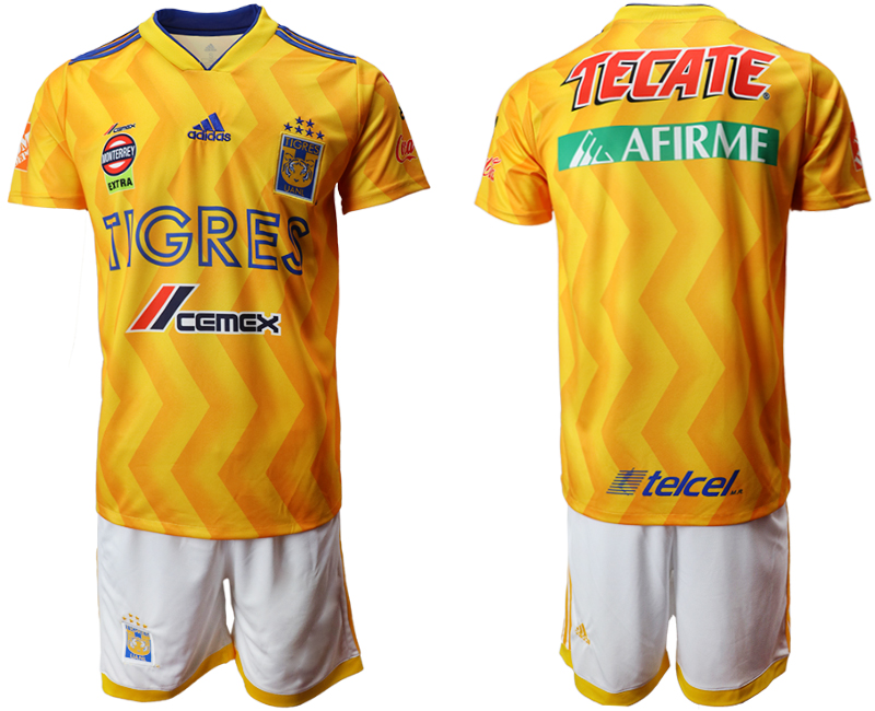Men 2018-2019 club Tigres UANL home yellow Soccer Jerseys