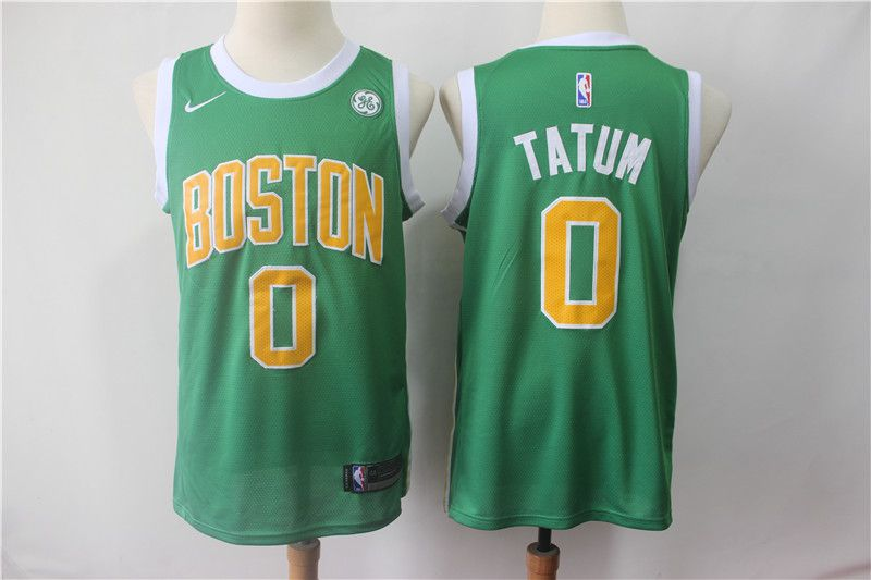 Men Boston Celtics 0 Tatum Green City Edition Game Nike NBA Jerseys