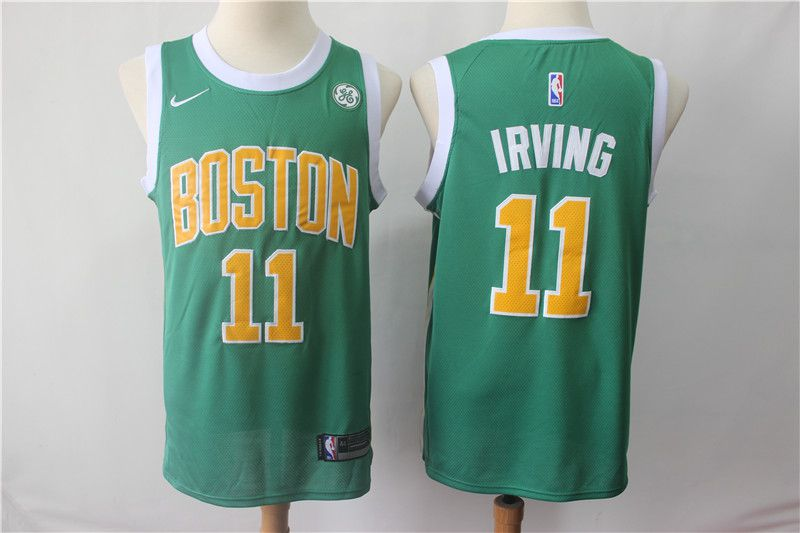 Men Boston Celtics 11 Irving Green City Edition Game Nike NBA Jerseys