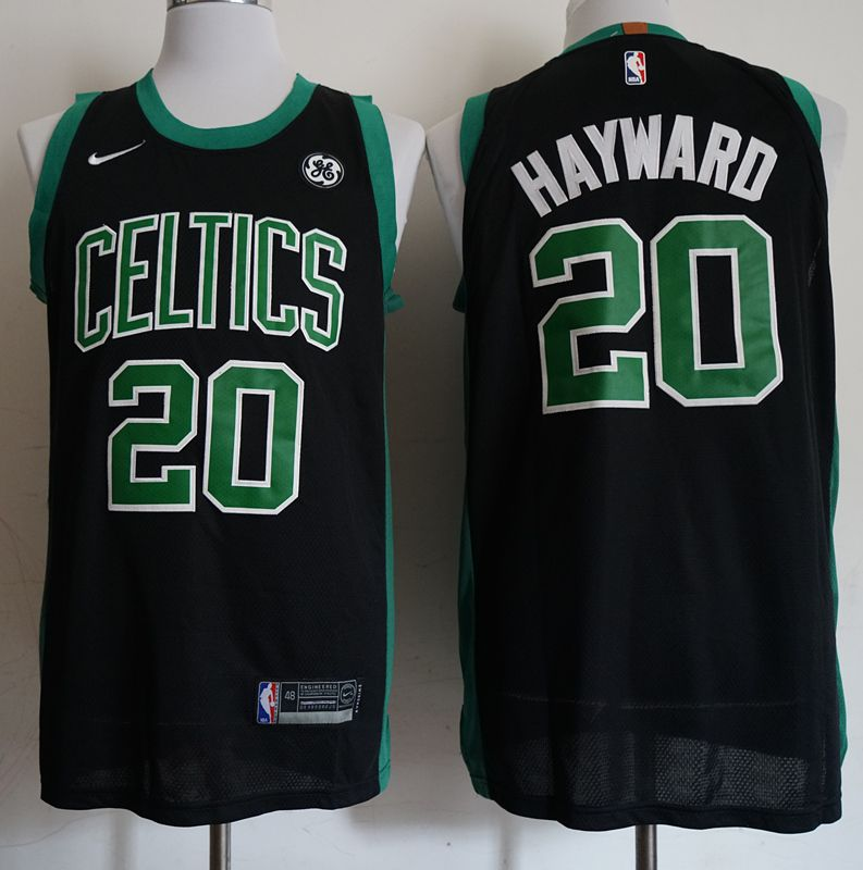 Men Boston Celtics 20 Hayward Black City Edition Game Nike NBA Jerseys