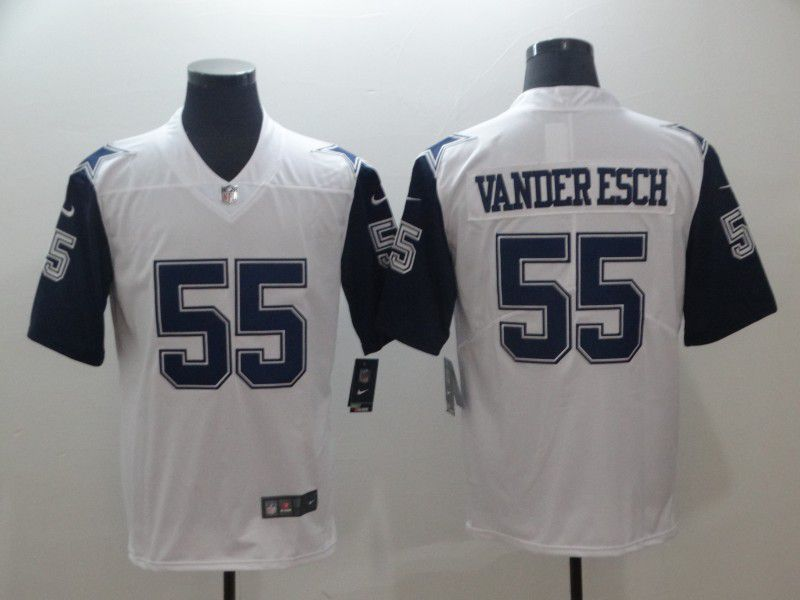 size 40 1afac 5a725 Men Dallas Cowboys 55 Vander esch White Thanksgiving Nike ...