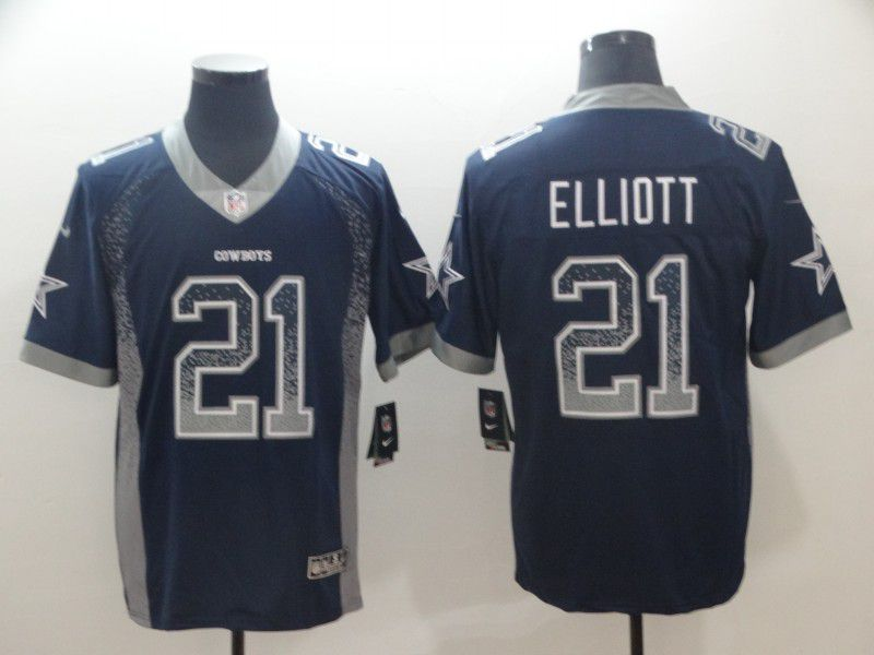 Men Dallas cowboys 21 Elliott Blue Nike Drift Fashion Color Rush Limited NFL Jerseys