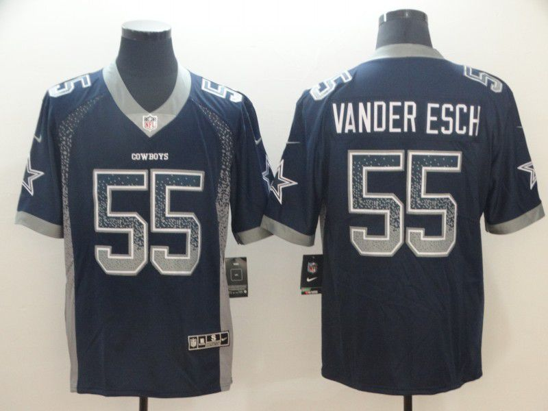 Men Dallas cowboys 55 Vander edch Blue Nike Drift Fashion Color Rush Limited NFL Jerseys