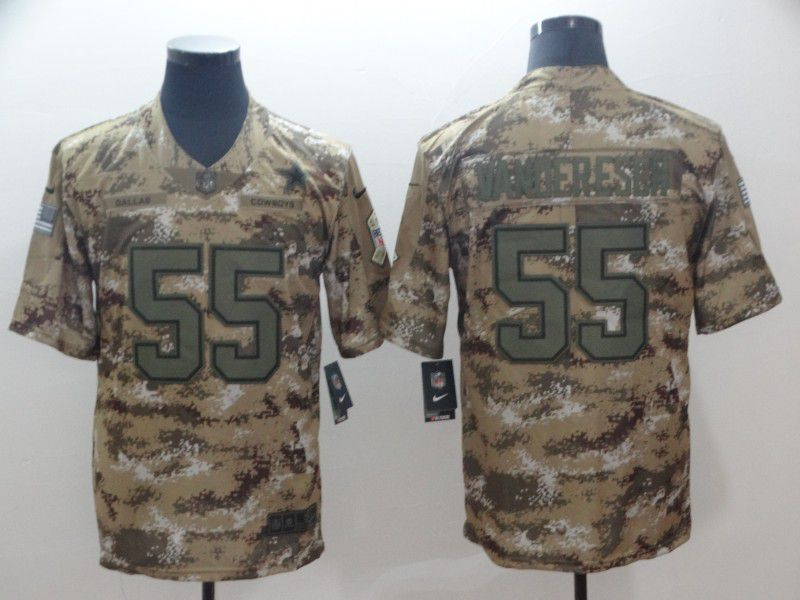 Men Dallas cowboys 55 Vander edch Nike Camo Salute to Service Retired Player Limited NFL Jersey