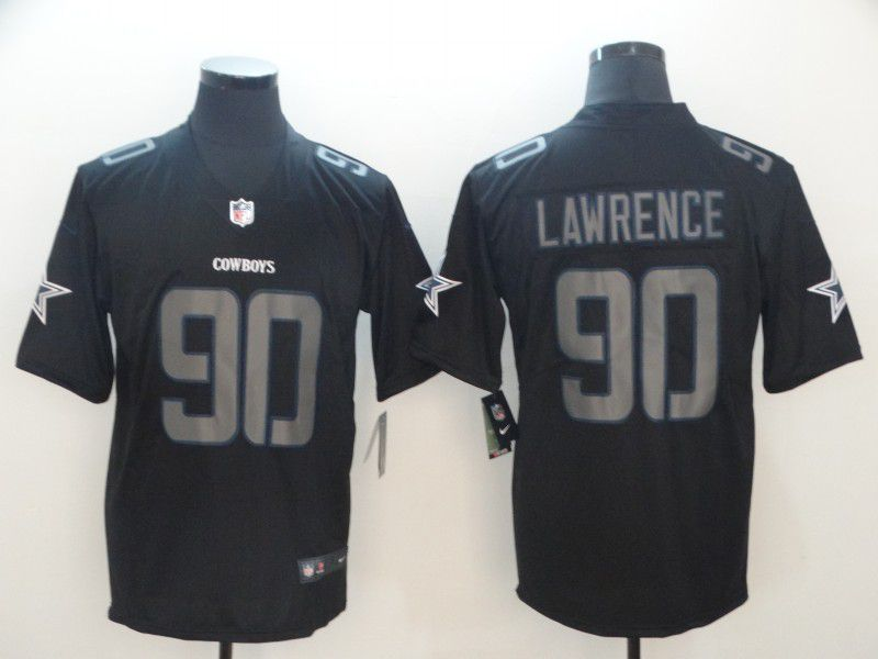 Men Dallas cowboys 90 Lawrence Nike Fashion Impact Black Color Rush Limited NFL Jerseys