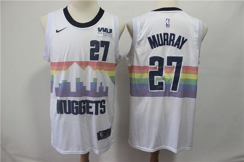 Men Denver Nuggets 27 Murray White City Edition Game Nike NBA Jerseys