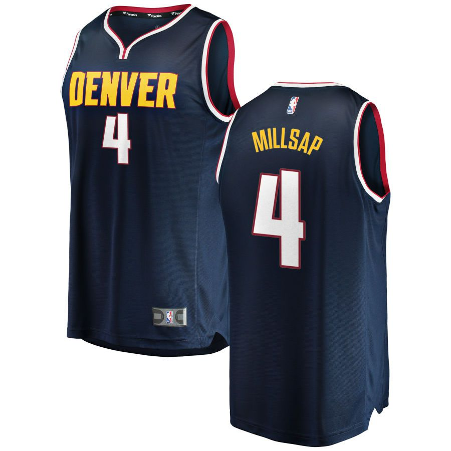 Men Denver Nuggets 4 Millsap Blue City Edition Game Nike NBA Jerseys