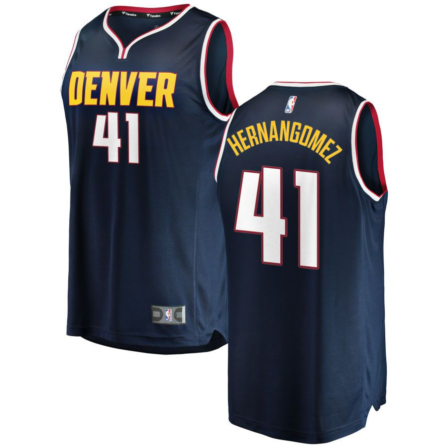 Men Denver Nuggets 41 Hernangomez Blue City Edition Game Nike NBA Jerseys