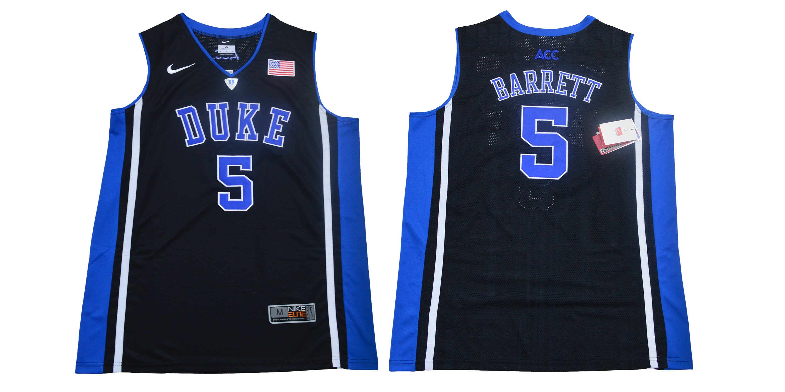 Men Duke Blue Devils 5 Barrett Black Nike Limited Stitched NCAA Jersey