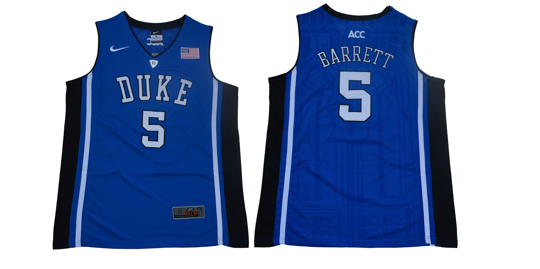 77e4a33fe96 Men Duke Blue Devils 5 Barrett Blue Nike Limited Stitched NCAA Jersey