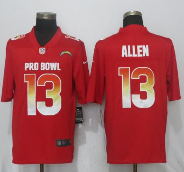Men Los Angeles Chargers 13 Allen Red Nike Royal 2019 Pro Bowl New Nike Limited NFL Jersey