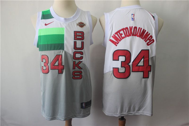 Men Milwaukee Bucks 34 Antetokounmp White City Edition Game Nike NBA Jerseys