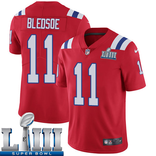 Men New England Patriots 11 Edelman red Nike Vapor Untouchable Limited 2019 Super Bowl LIII NFL Jerseys