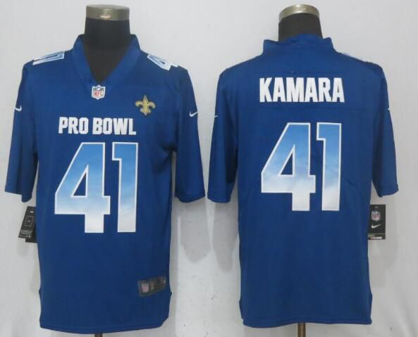 Men New Orleans Saints 41 Kamara Blue Nike Royal 2019 Pro Bowl New Nike Limited NFL Jersey