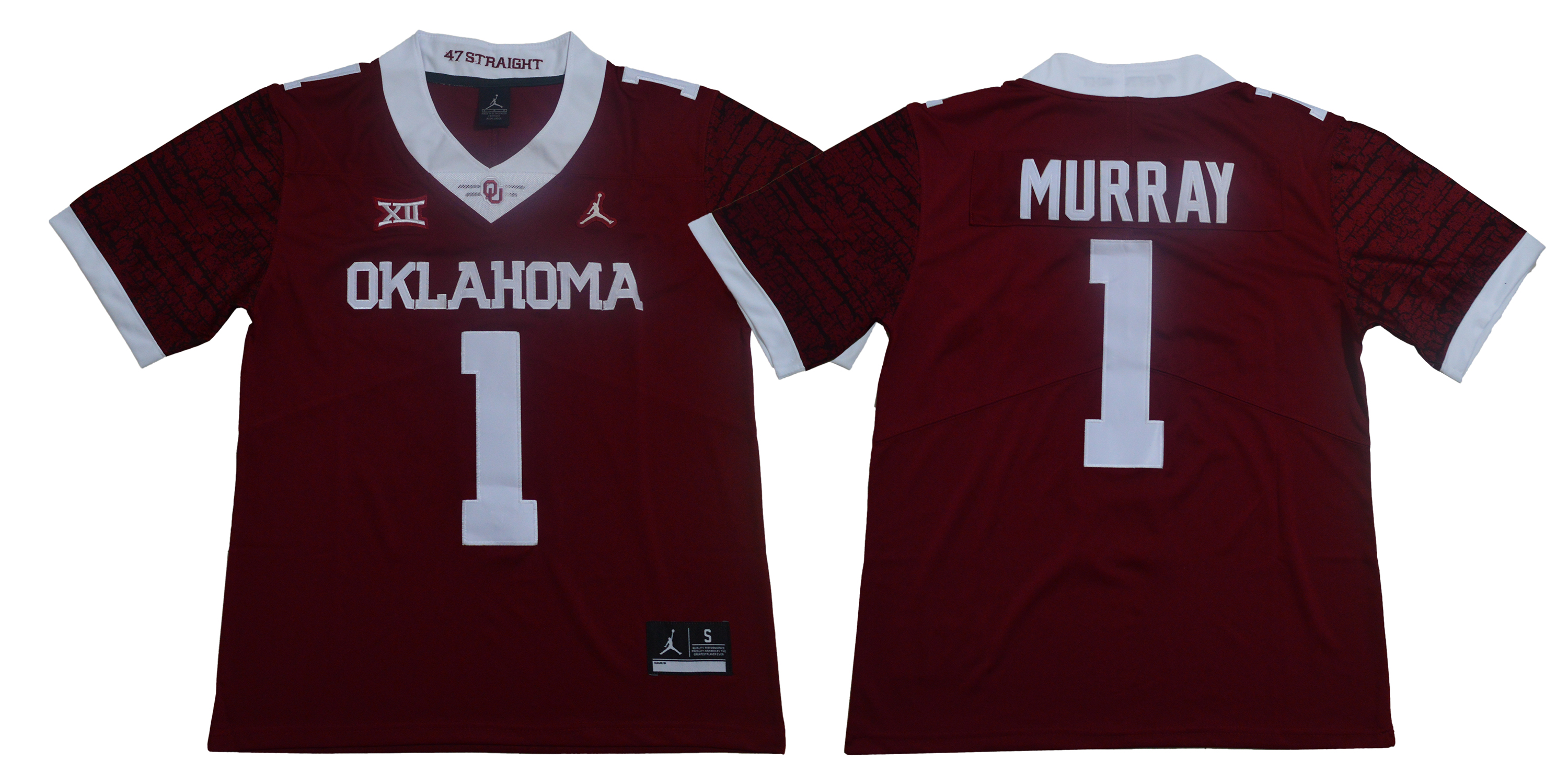 Men Oklahoma Sooners 1 Murray Red Limited Stitched NCAA Jersey