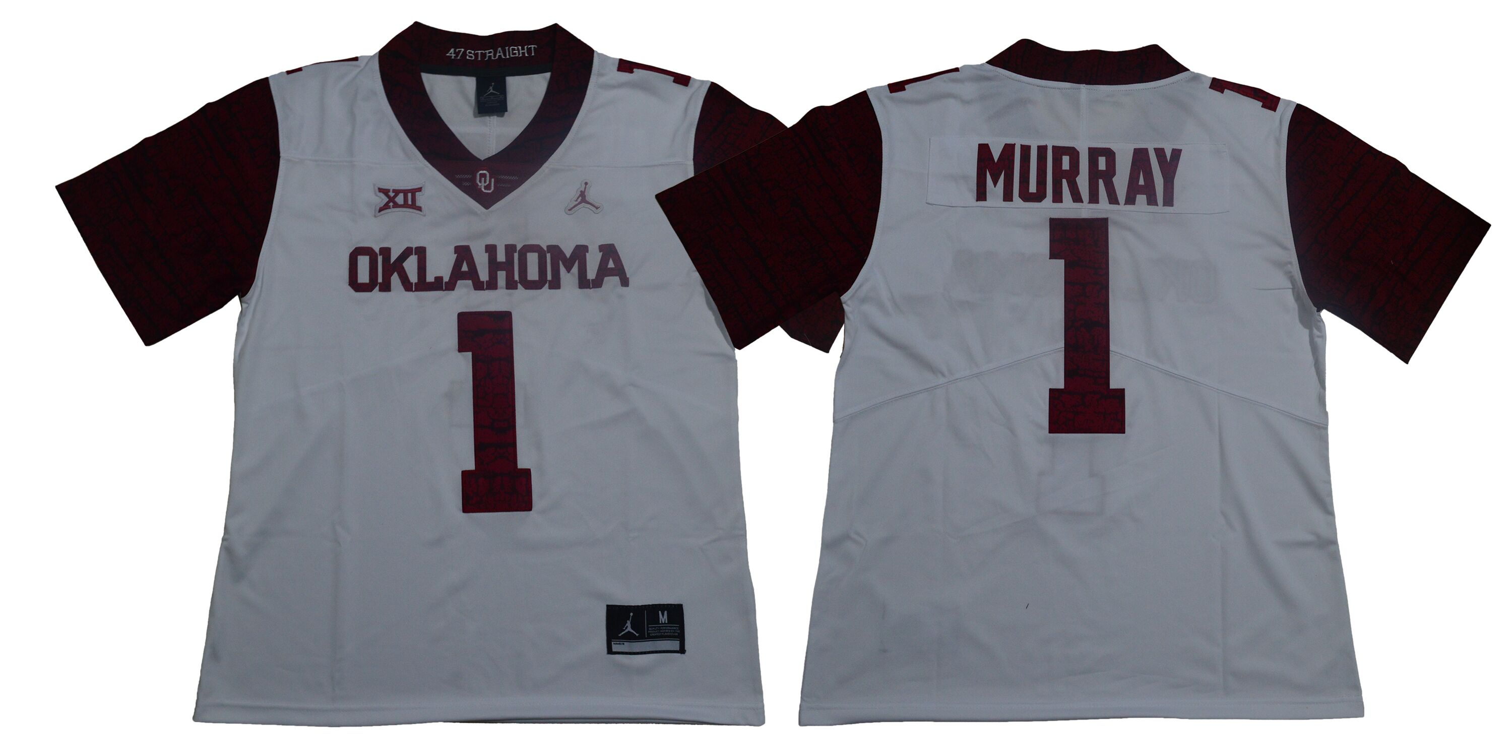 Men Oklahoma Sooners 1 Murray White Limited Stitched NCAA Jersey