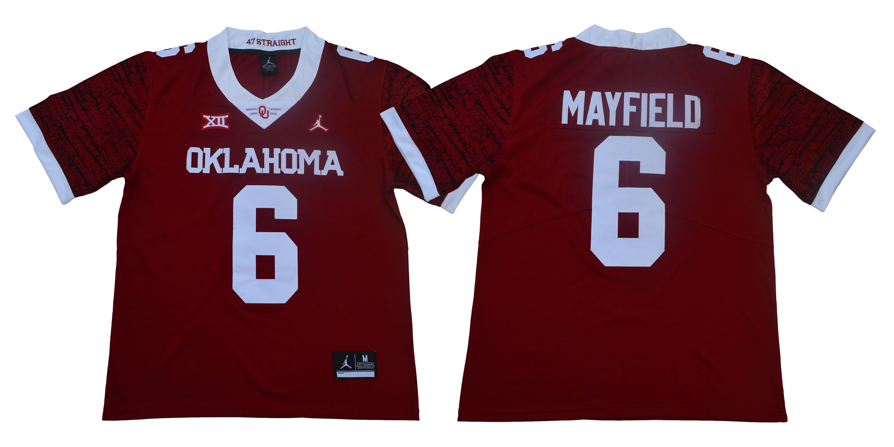 Men Oklahoma Sooners 6 Mayfield Red Limited Stitched NCAA Jersey