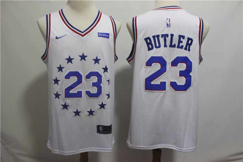 Men Philadelphia 76ers 23 Butler White City Edition Game Nike NBA Jerseys
