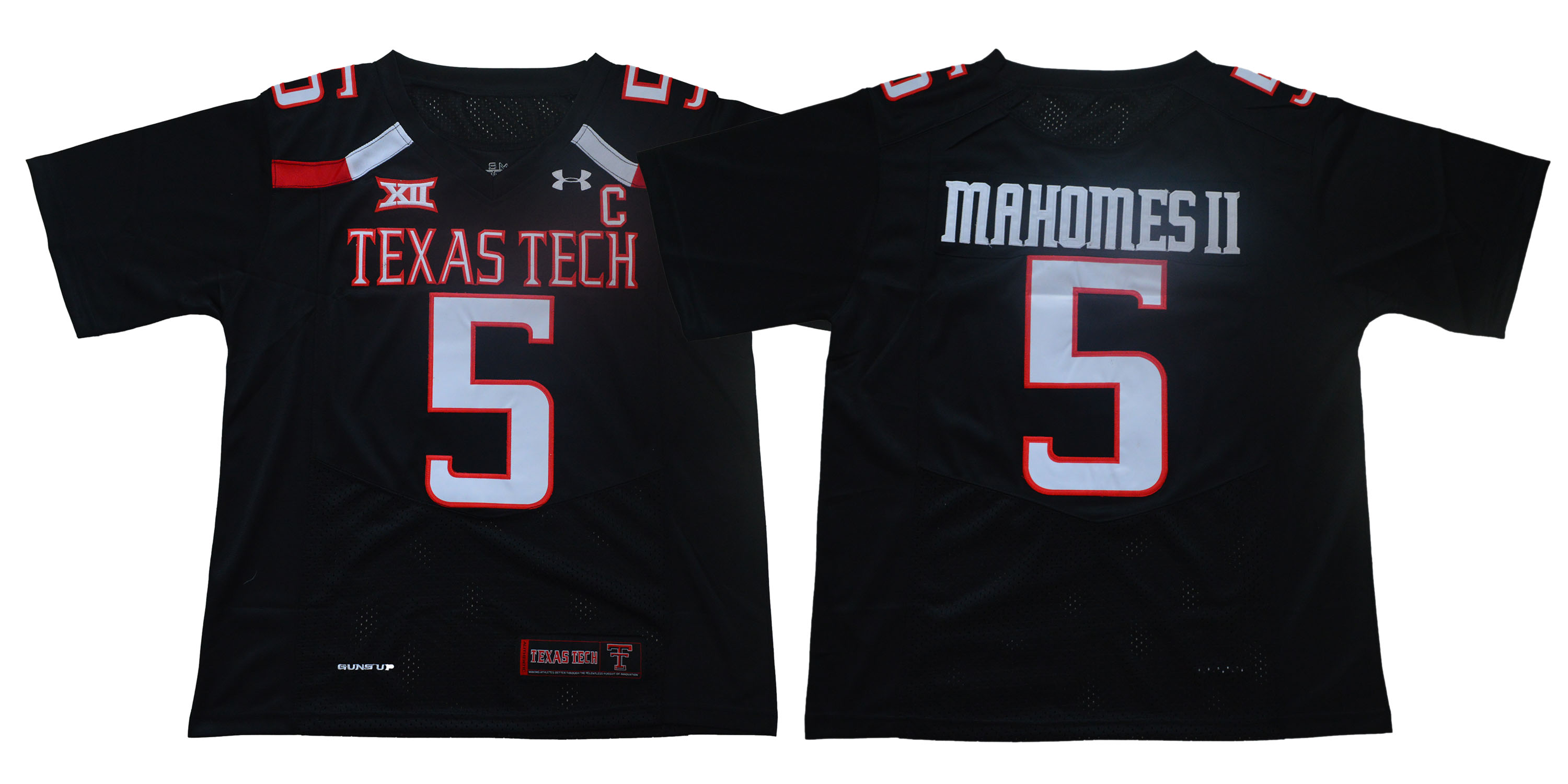 Men Texas Tech Red Raiders 5 Mahomes ii Black Limited Stitched NCAA Jersey