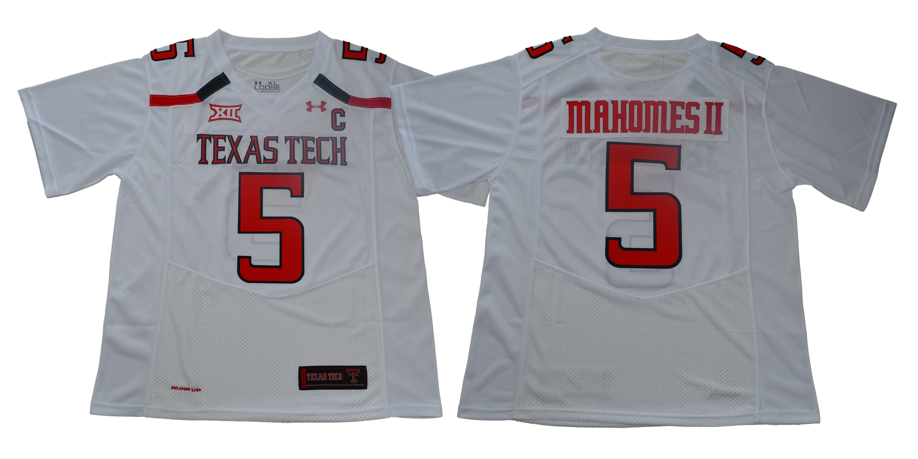 Men Texas Tech Red Raiders 5 Mahomes ii White Limited Stitched NCAA Jersey