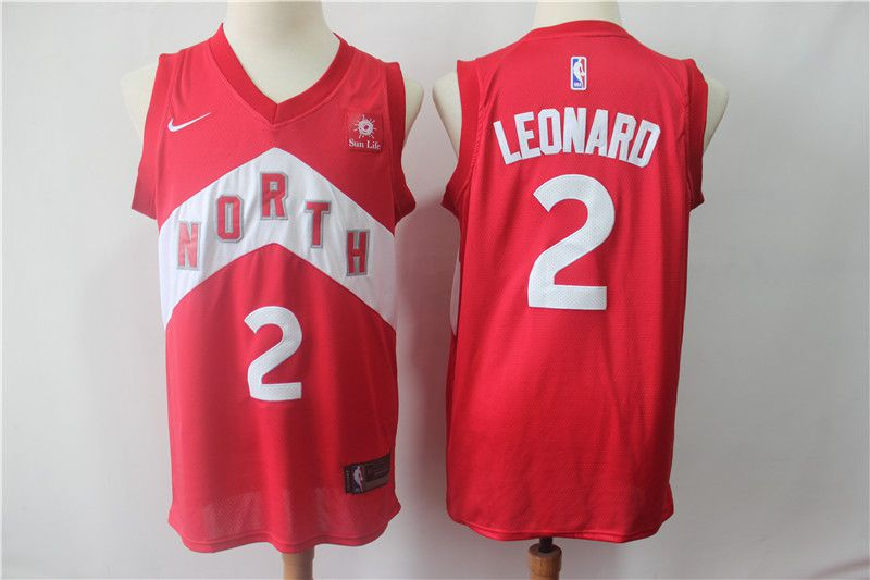 Men Toronto Raptors 2 Leonard Red City Edition Game Nike NBA Jerseys