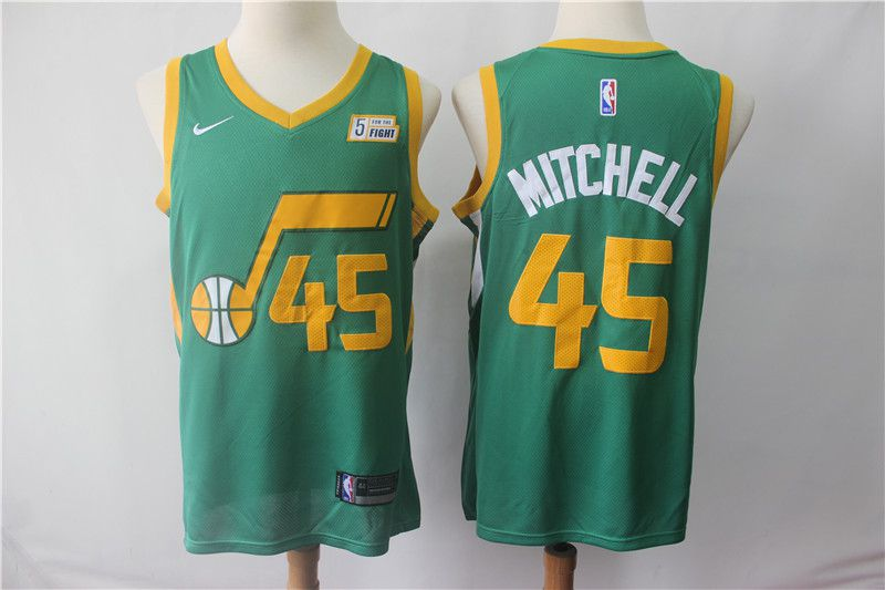 Men Utah Jazz 45 Mitchell Green City Edition Game Nike NBA Jerseys