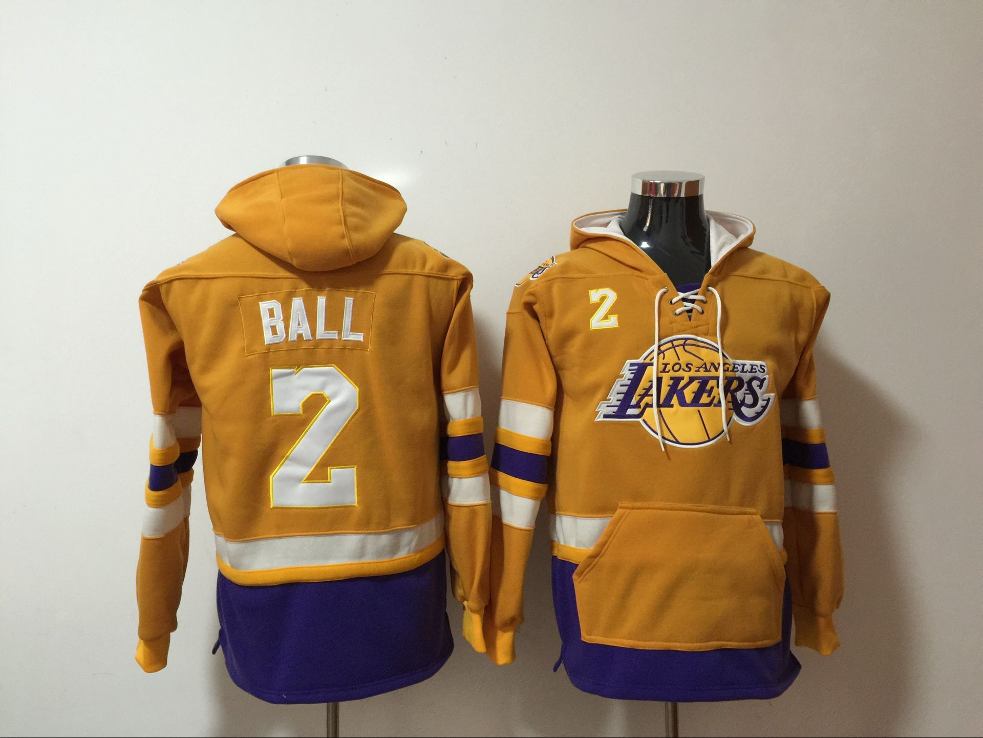NBA Men Los Angeles Lakers 2 Ball yellow Sweatshirt