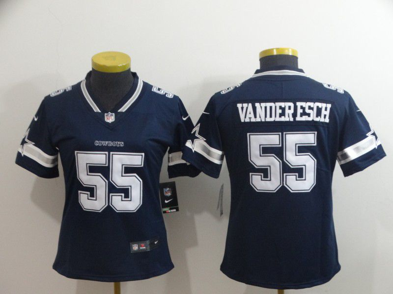 Women Dallas cowboys 55 Vander edch Blue Nike Vapor Untouchable Limited Player NFL Jerseys