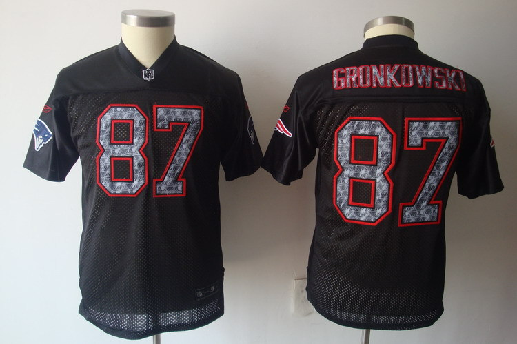 Women New England Patriots 87 Gronkowski black Nike NFL Jerseys