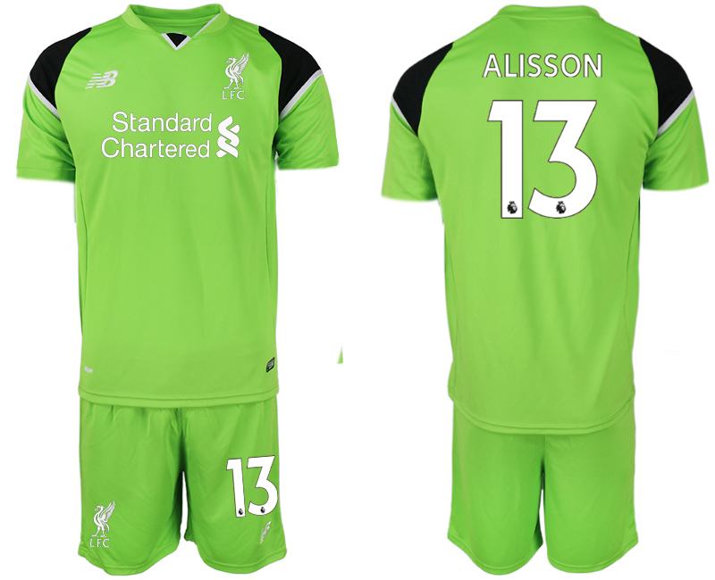 Youth 2018 World Cup Liverpool green goalkeeper 13 soccer jersey