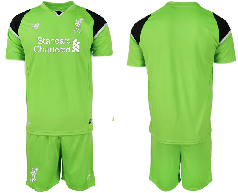 Youth 2018 World Cup Liverpool green goalkeeper soccer jersey
