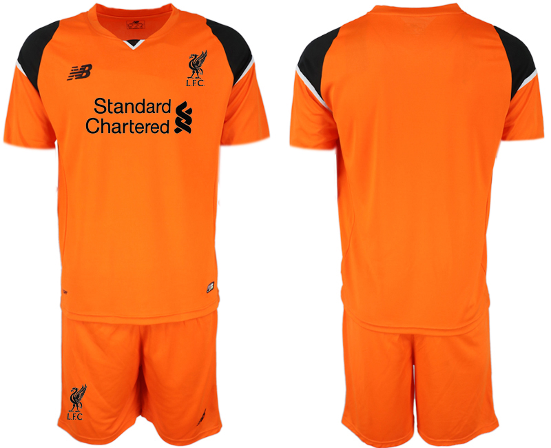 Youth 2018 World Cup Liverpool orenge goalkeeper soccer jersey